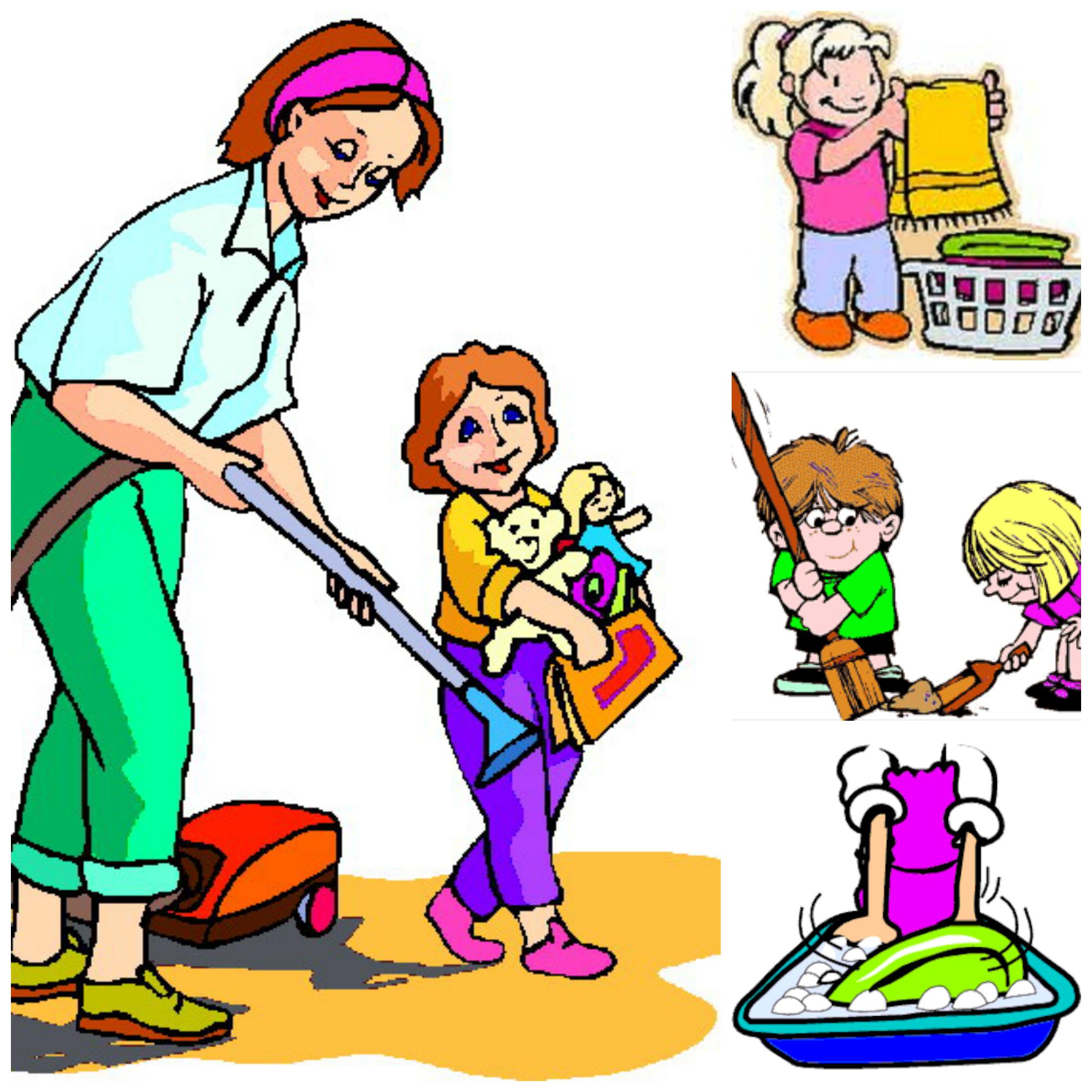 родителям по дому рисунок помощь