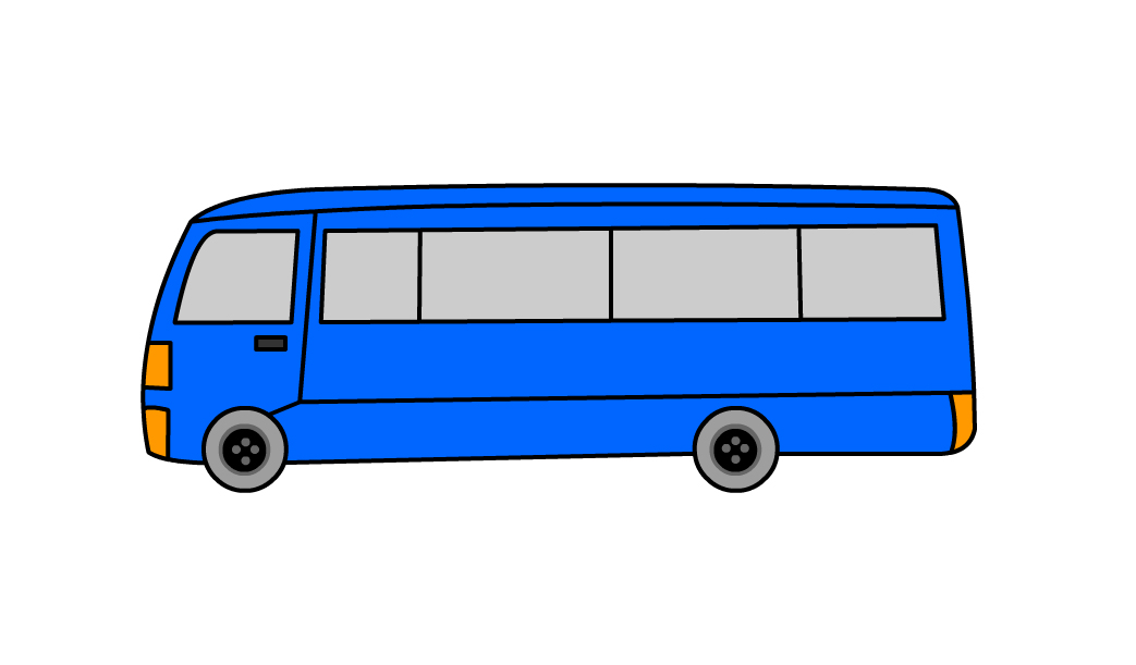 how to draw the side of school bus