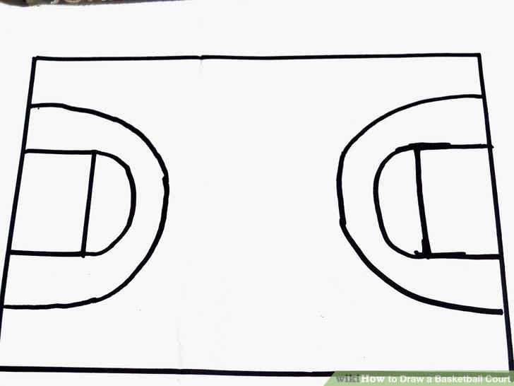 How to Draw a Basketball Court: 6 Steps (with Pictures) - wikiHow