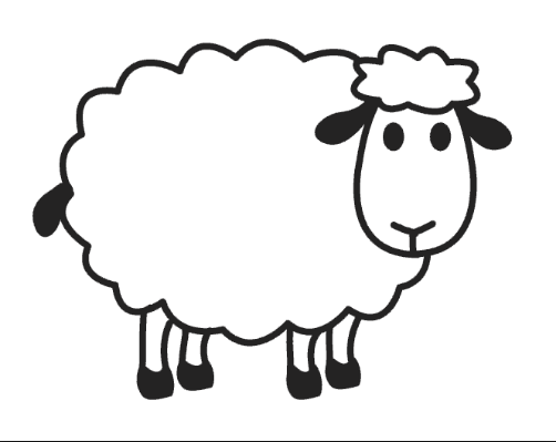 free printable sheep coloring pages   Sheep Pictures For Kids - ClipArt Best