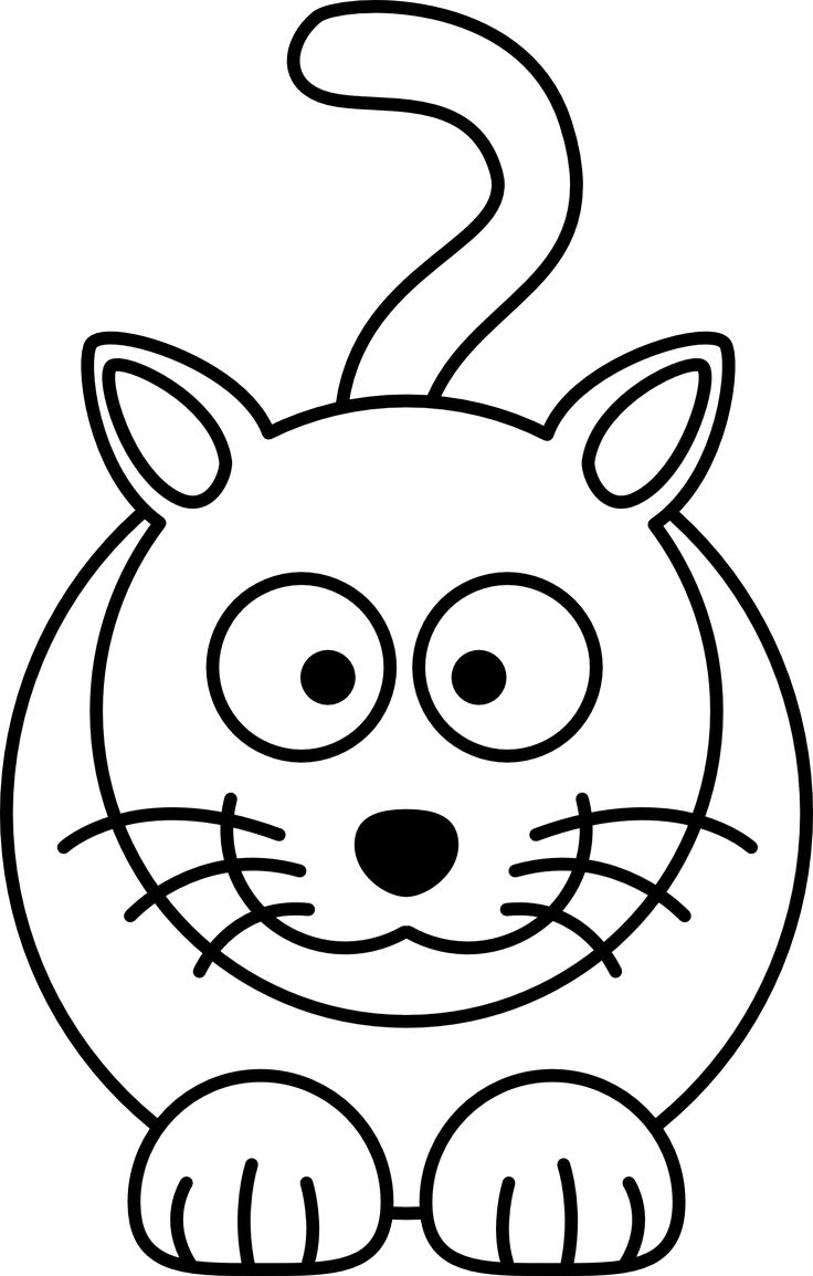 Line Drawing Cat Face : Animal line drawings clipart best