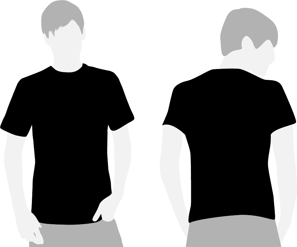 black t shirts template - photo #9