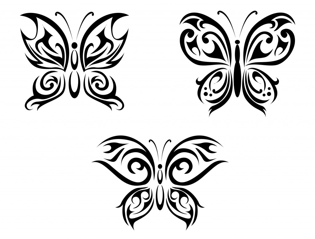 Tribal butterfly design - photo#27
