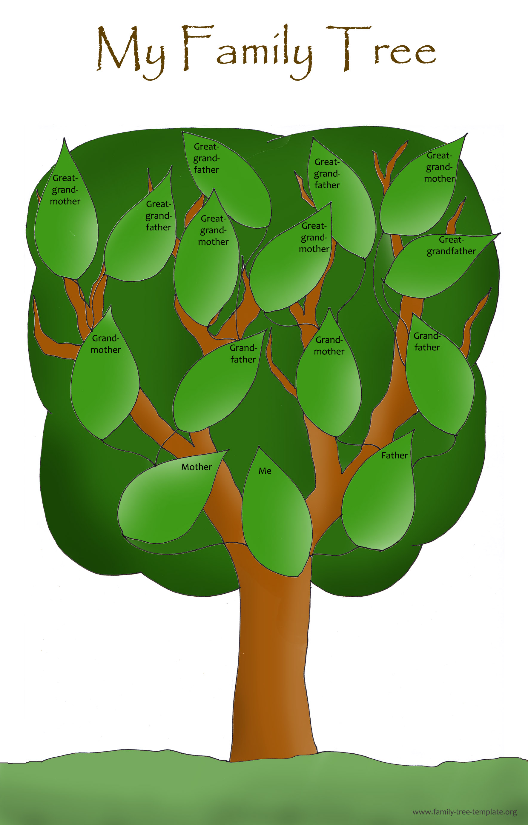 blank family tree template for kids - blank family trees for kids clipart best