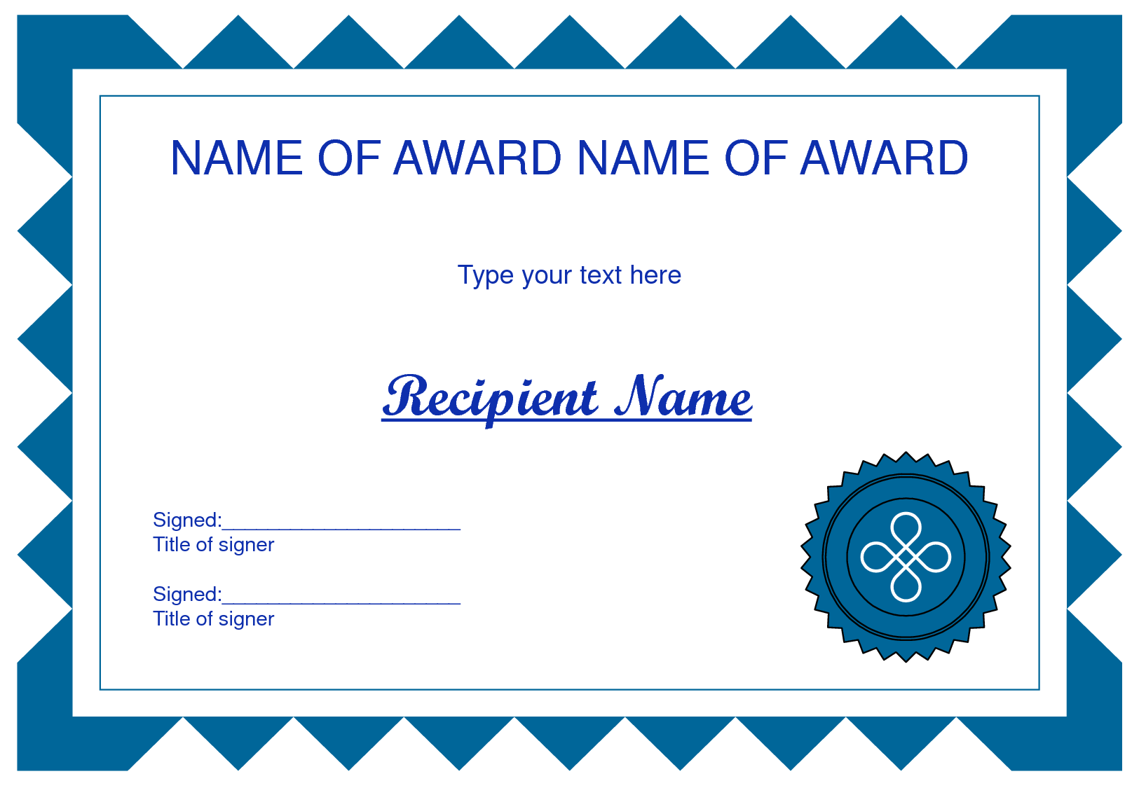 Clip art certificate template clipart for Award certificate template powerpoint