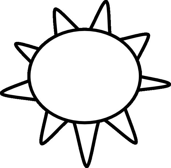 Sun Outline clip art - vector clip art online, royalty free ...