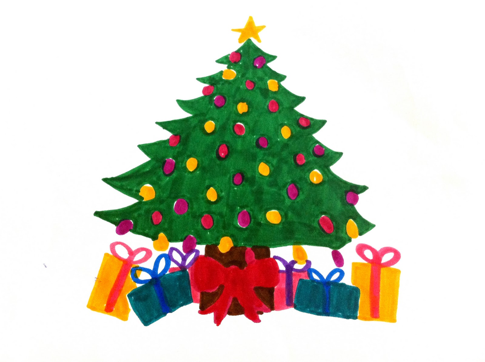 Christmas Tree Draw - ClipArt Best - ClipArt Best