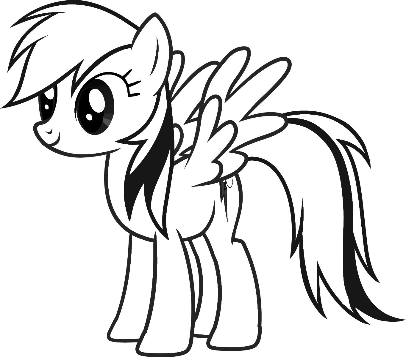Free My Little Pony Rainbow Dash Coloring Page