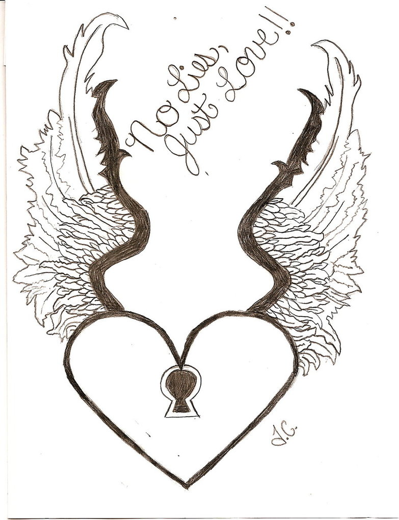 Cool Drawings Of A Heart With Wings - ClipArt Best
