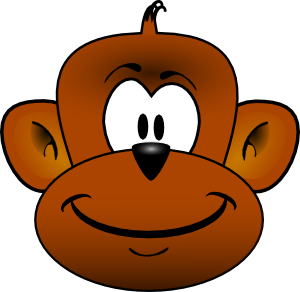 Gmad Monkey Head clip art - vector clip art online, royalty free ...