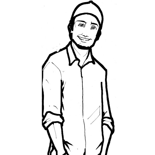 Line Art Person : Line drawing person clipart best