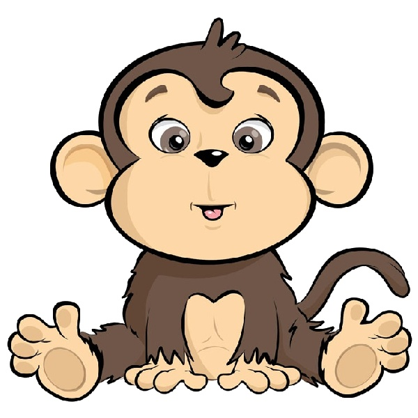 Cute Monkey Cartoon - ClipArt Best