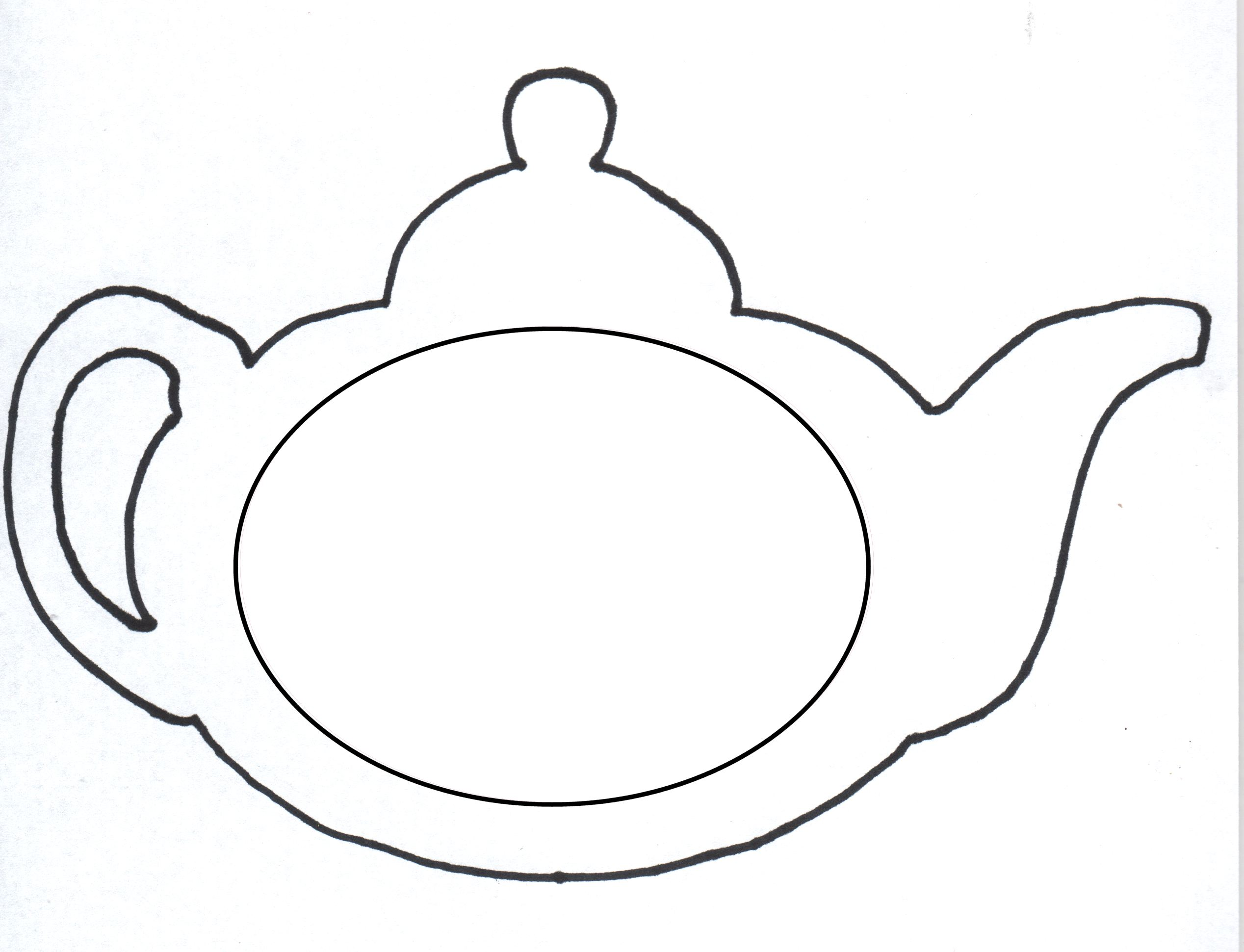 This is a graphic of Witty Teapot Template Printable