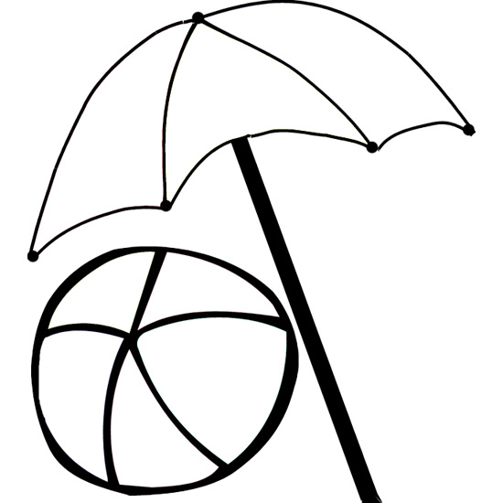 Line Drawing Umbrella : Beach umbrella coloring pages clipart best