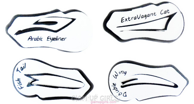 Dynamite image with printable eyeliner stencils