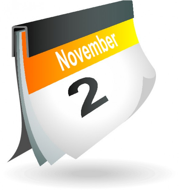 November 23 calendar page icon Vector | Free Download