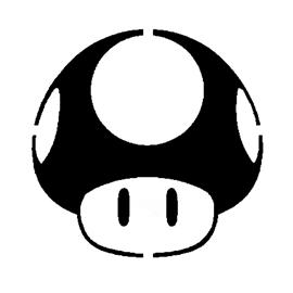 Stencil 8bit Mario Medium  etsycom