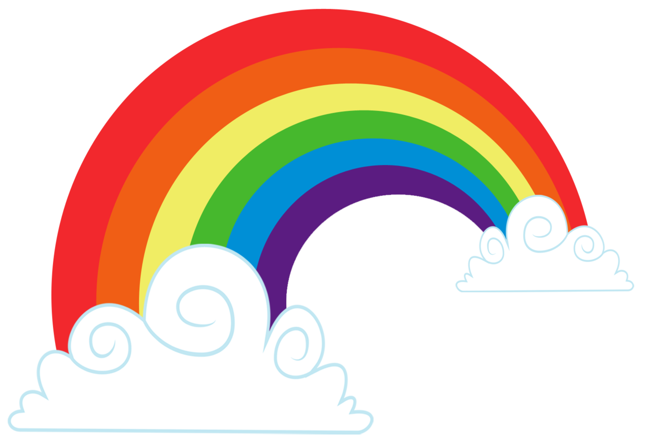 clipart rainbow with clouds - photo #30