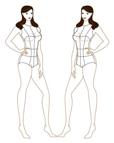 Can t find the perfect clip-art Female Croquis Templates