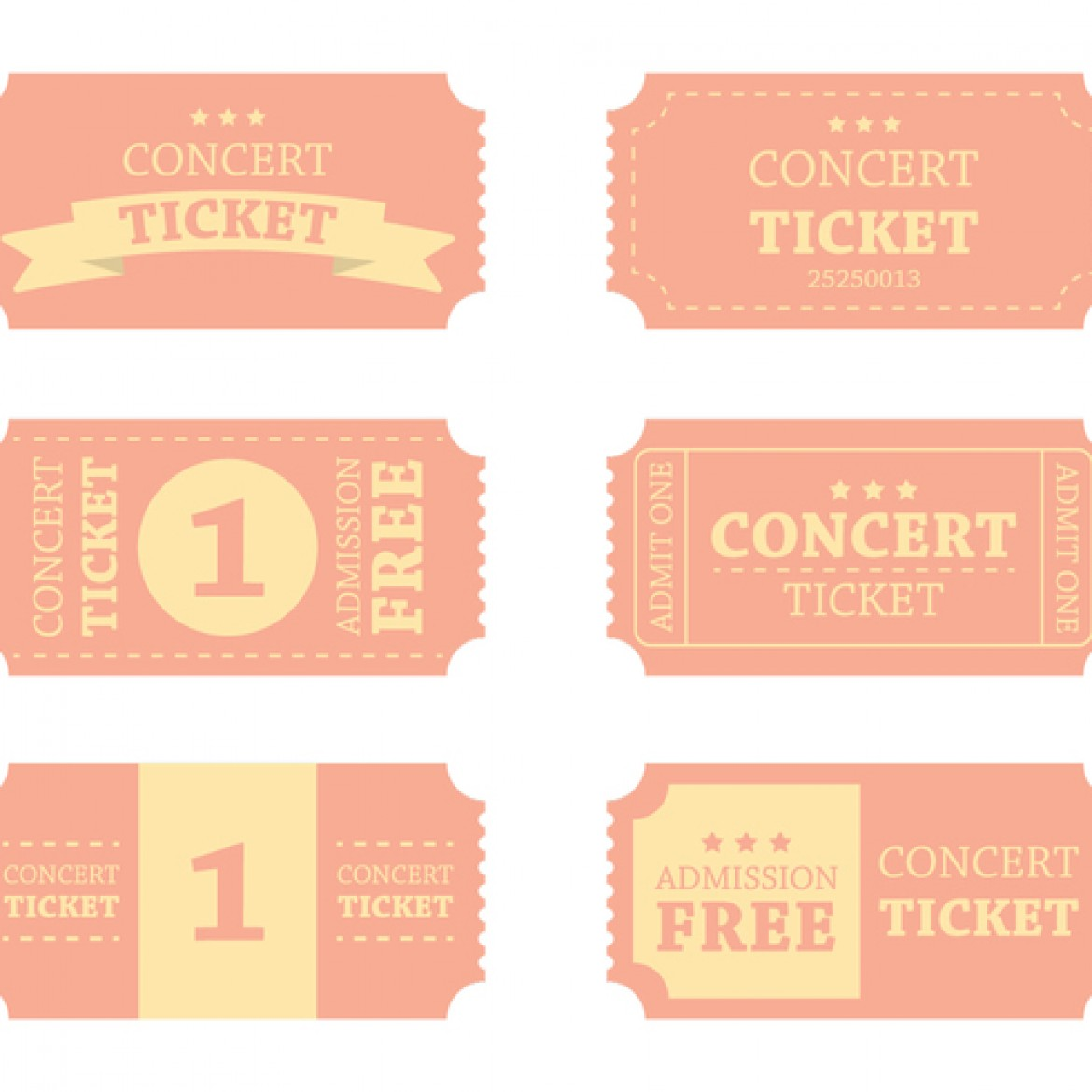 Blank concert ticket template clipart best for Concert ticket template free