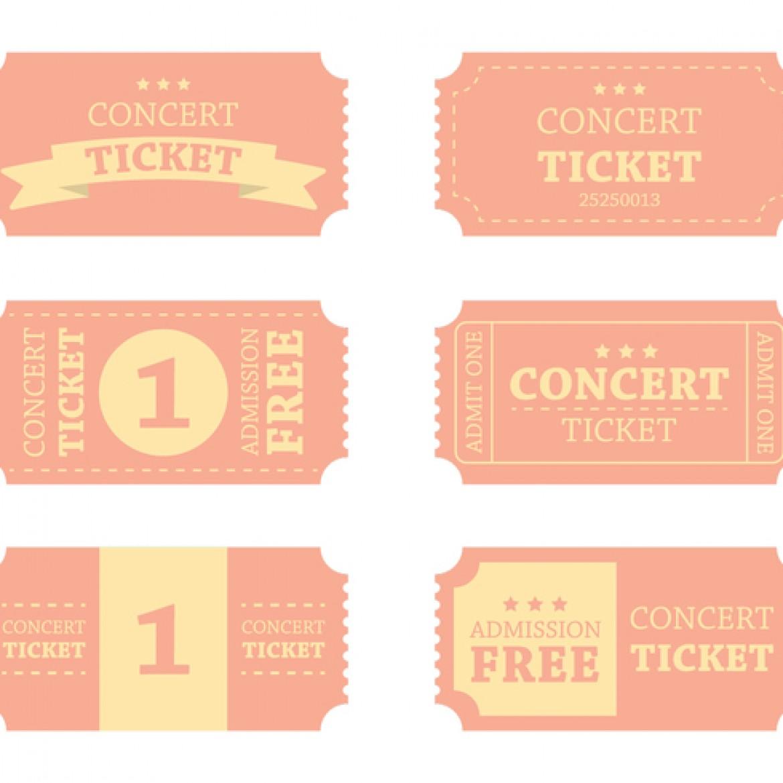 blank concert ticket template clipart best