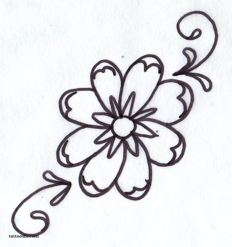 daisy tattoo designs - flower tattoo designs - free tattoo designs