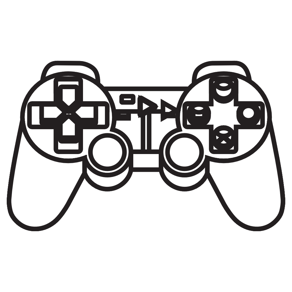 playstation controller outline