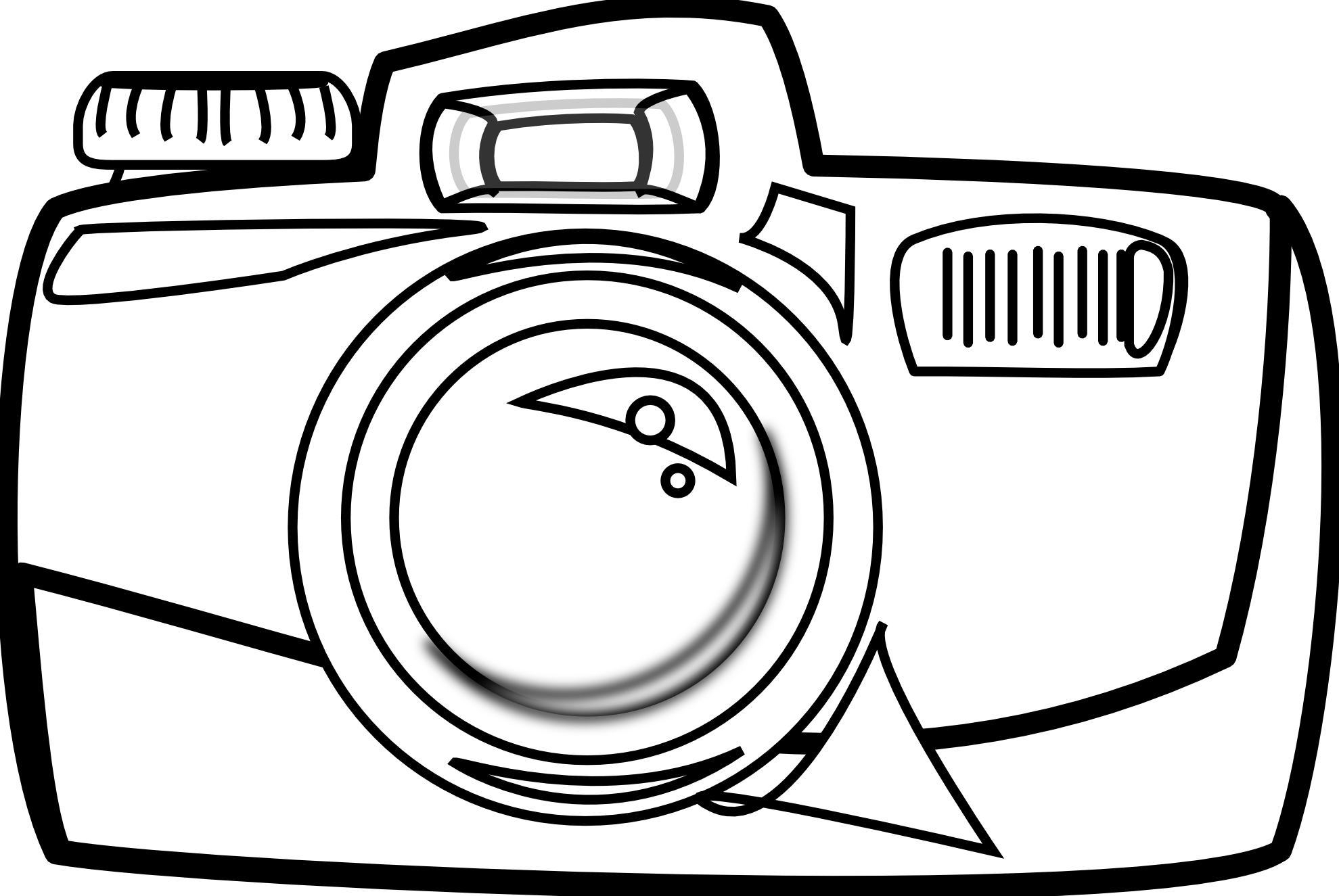 Line Drawing Camera : Camera vector art clipart best