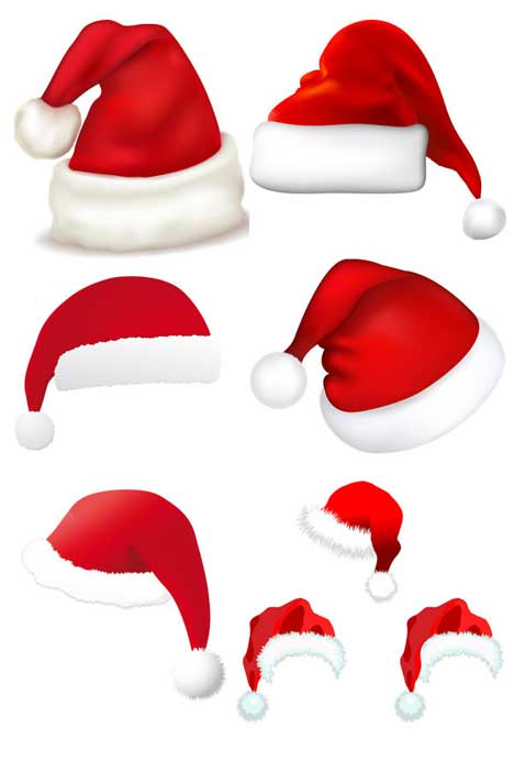 Vector santa hat clipart best