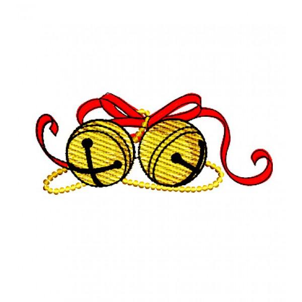 Christmas Sleigh Bells Embroidery Design - ClipArt Best ...