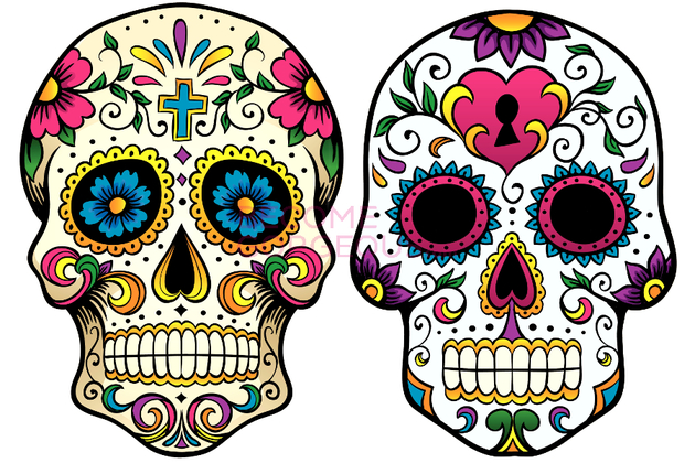 Sugar Skull Makeup for Halloween - ClipArt Best - ClipArt Best