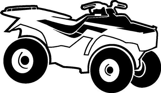 Four wheeler clipart best for 4 wheeler coloring pages