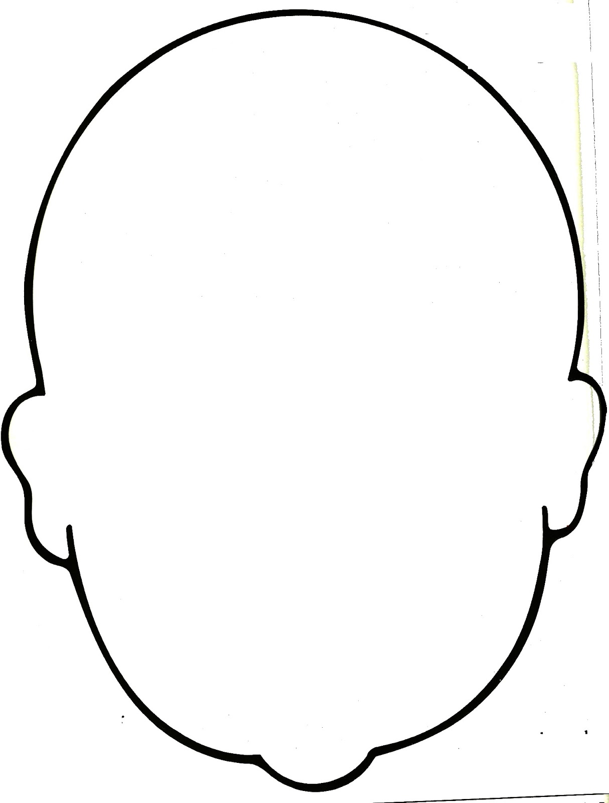Blank human face outline - photo#2
