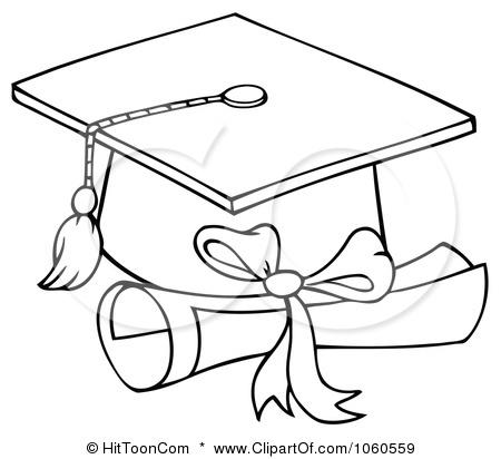 Graduation Cap Coloring Page Clipart Best Graduation Cap And Gown Coloring Pages