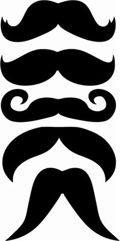 Mustache cut out clipart best for Mustache print out template