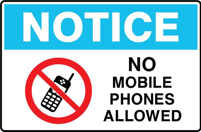 Mobile Not Allowed Sign Clipart Best