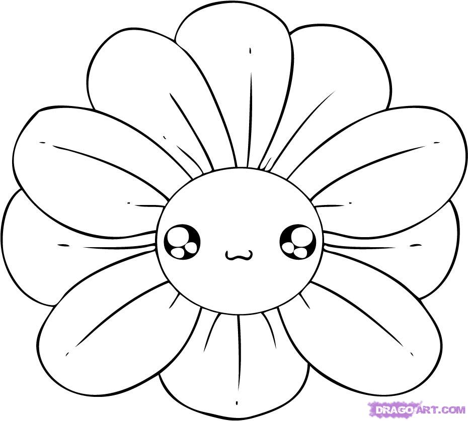 Easy drawings of flowersEasy Drawings Of Flowers