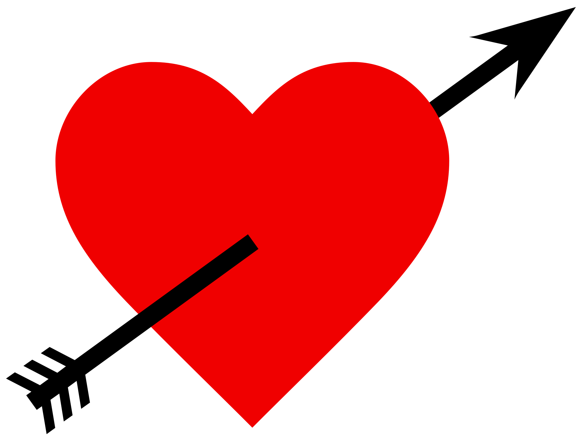 Arrow Through Heart - ClipArt Best