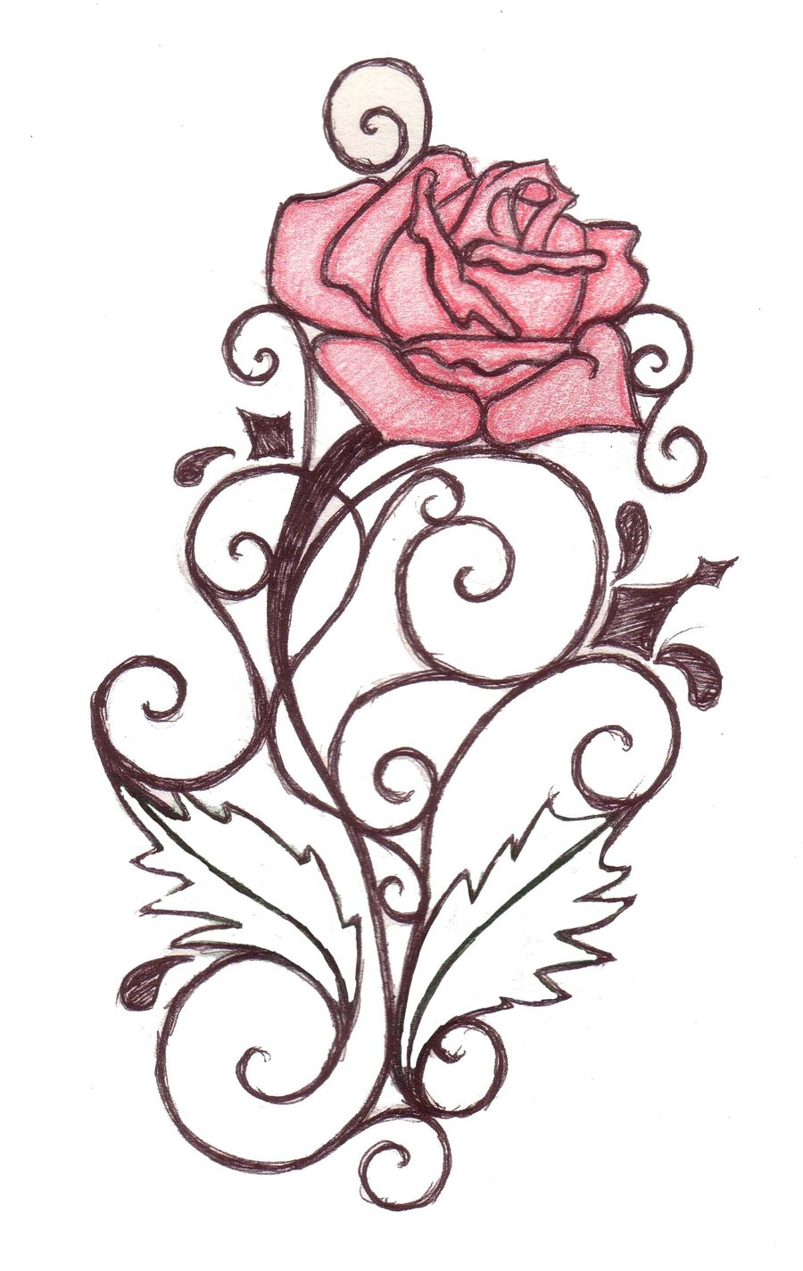 free tattoo rose designs clipart best. Black Bedroom Furniture Sets. Home Design Ideas