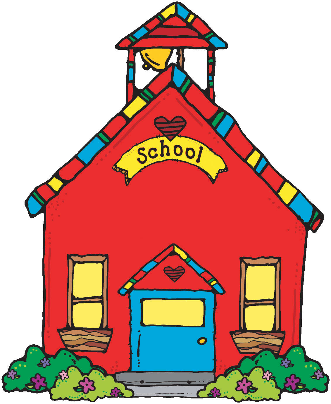 Schoolhouse clipart illustration image