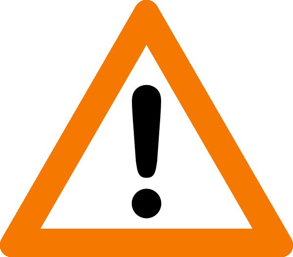 Warning Yield Sign clip art Free Vector