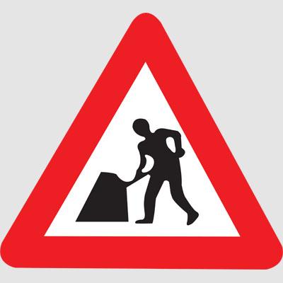 Men At Work Road Sign - ClipArt Best