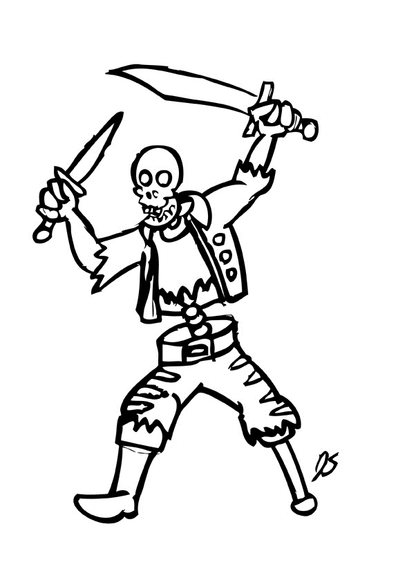 free axial skeleton coloring pages - photo#20