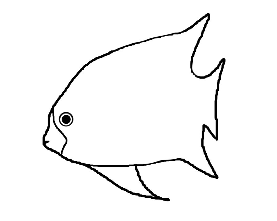 Simple Fish Line Art : Line drawing of fish clipart best