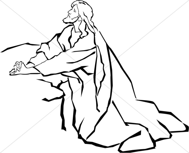 Line Drawing Jesus Christ : Line art pictures of jesus clipart best