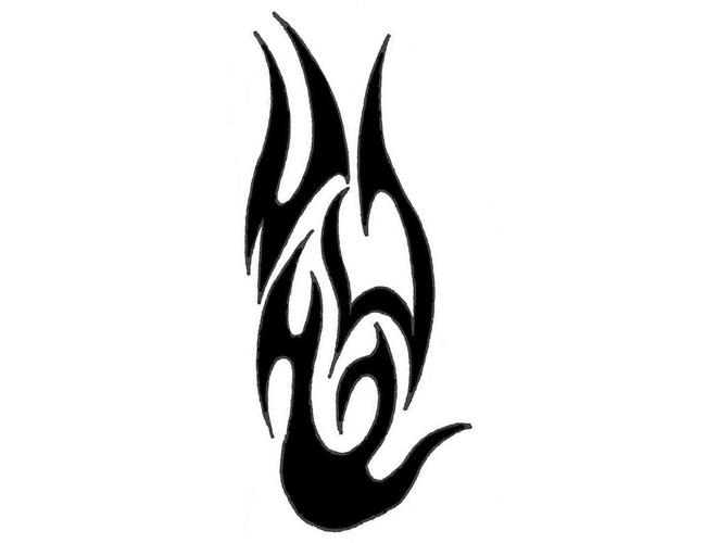 Tribal Flames Design - ClipArt Best