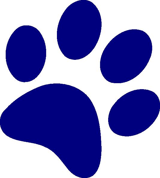 Purple Bulldog Paw - ClipArt Best