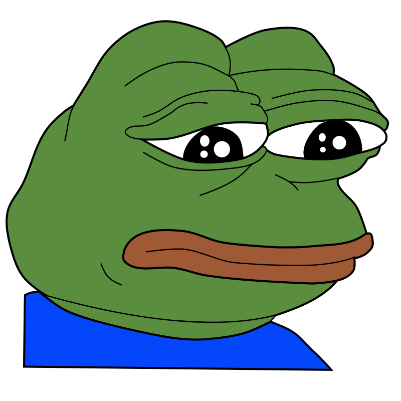 Clipart - Sad Frog / Feels Bad Man - Meme