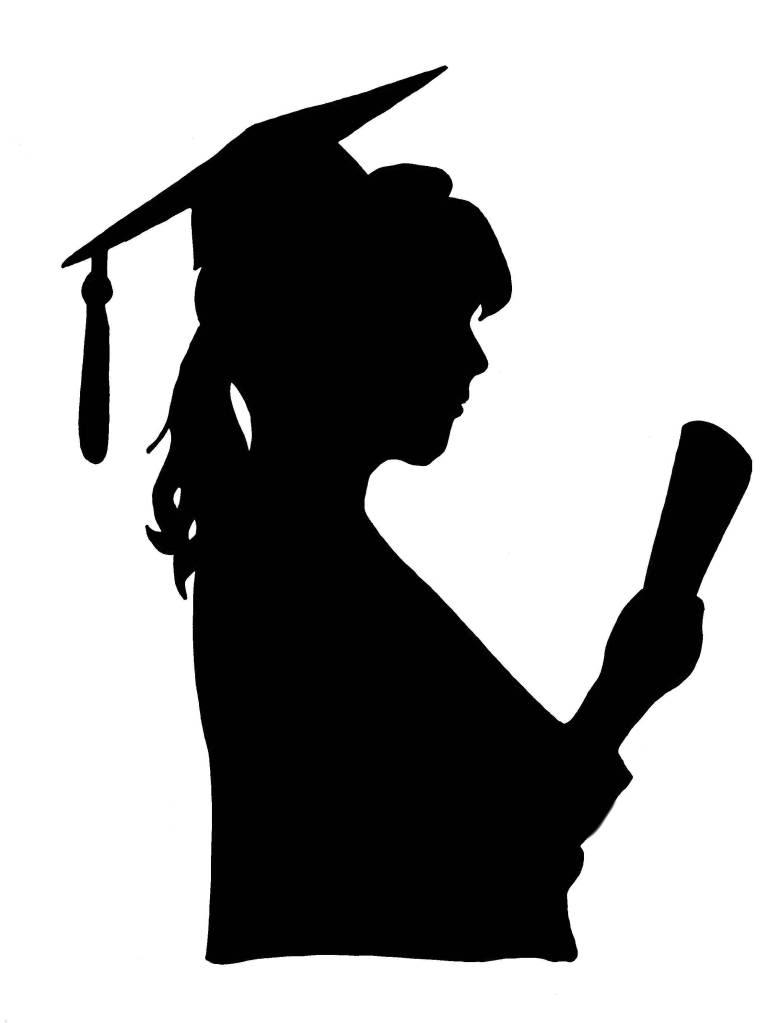 Graduation Cap Outline Clip Art Silhouette - ClipArt Best