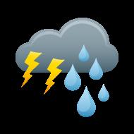 Thunderstorm Weather Symbol - ClipArt Best
